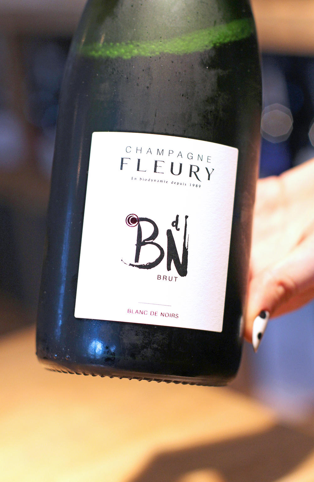 Champagne Fleury at Rozbrat 20 Restaurant, Warsaw - travel & lifestyle blog