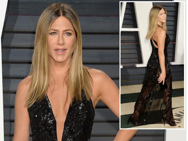 Jennifer Aniston - Look  Vanity Fair Oscar Party 2017
