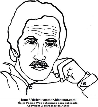 Imagen de Jorge Eduardo Eielson para colorear pintar imprimir. Dibujo de Jorge Eduardo Eielson de Jesus Gómez