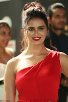 Meenakshi Dixit in Red One Shoulder Red Zipped up gown at IIFA Utsavam Award 58.JPG