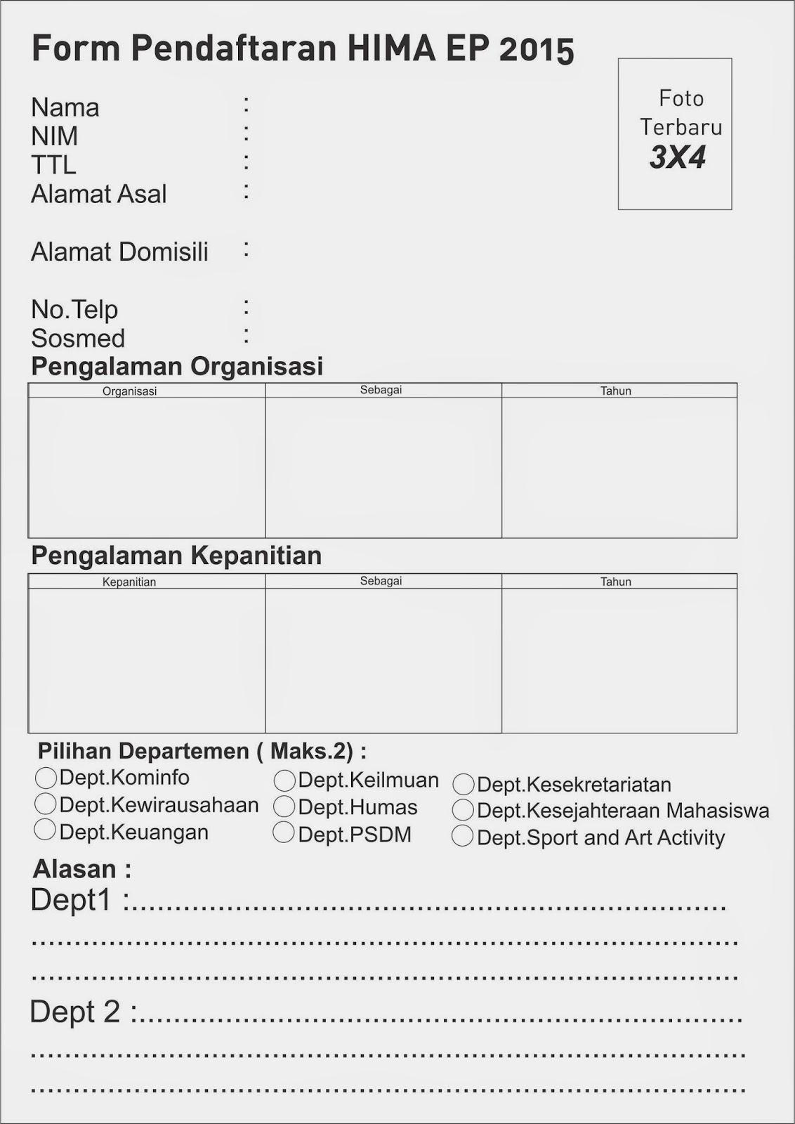 Gambar 2014 Hima Ep Unair Formulir Open Recruitment Pengurus 2015
