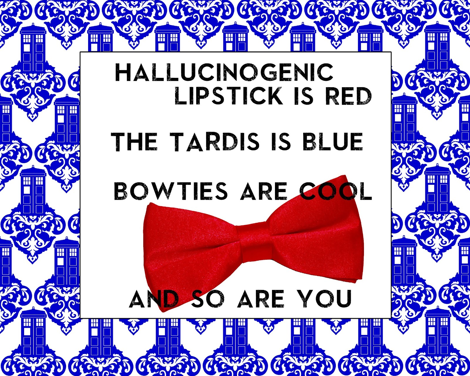 photo relating to Tardis Sign Printable named 45 Health care provider Who Encouraged Valentines Working day Printables!