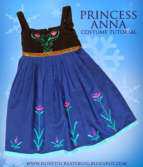 If you are a parent of young children like me you probably have the entire dialogue of Disneyu0027s Frozen memorized by now! My daughter LOVES this movie and I ...  sc 1 st  iLoveToCreate & Princess Anna Costume Dress Tutorial | iLoveToCreate