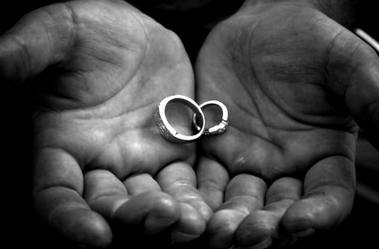 Wedding rings symbol of unity