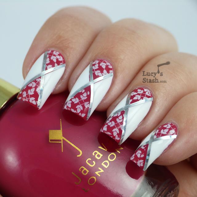 Nail Art London: Diagonal Nail Art Feat. Jacava London Candy Floss And Mont