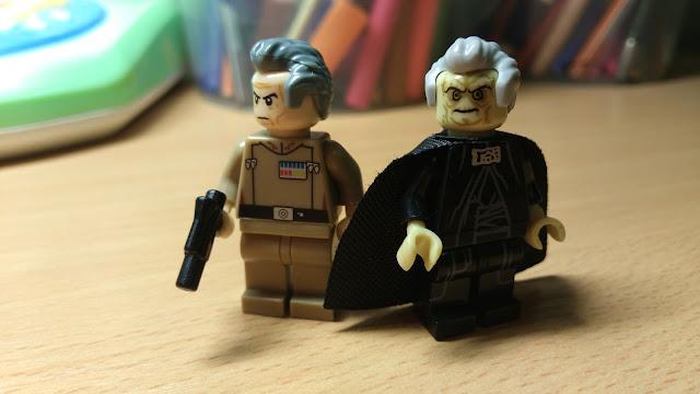 Таркин и Сидус фигурки лего Звездные войны