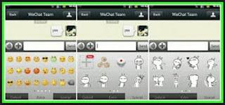 fitur stiker aplikasi wechat
