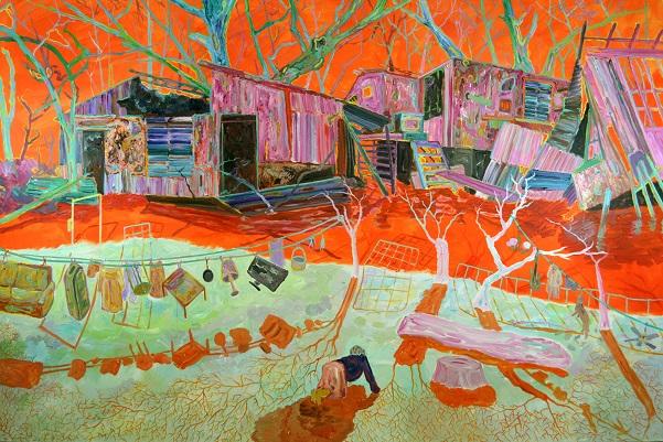 "by Xi Zhang, ""Christinas World"" - Acrylic on Canvas, 2017   obras de arte, pinturas, cuadros, imagenes chidas, tristes, bellas, cool art pictures"