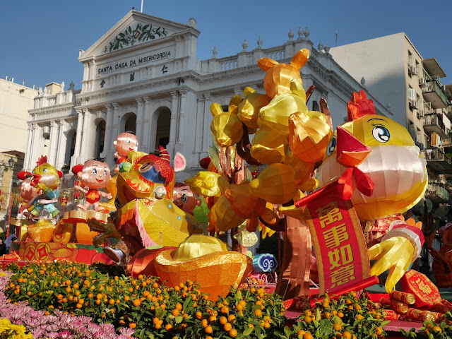 Lunar New Year display at Largo do Senado in Macau