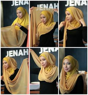 Permalink to Lebih Fashionable dengan Tutorial Hijab ala Jenahara