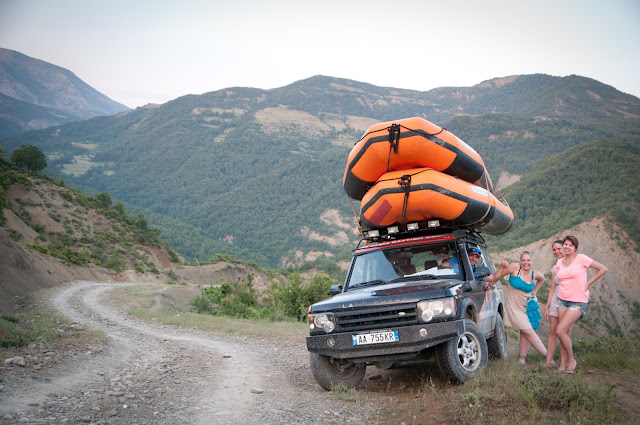 Post-rafting on Osumi, in the Albanian mountains