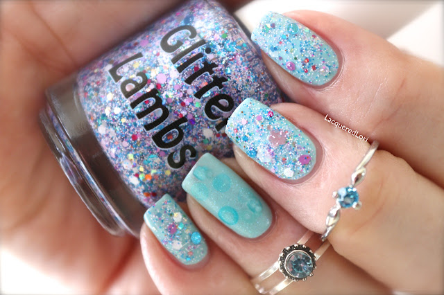 "Glitter Lambs  ""PIGGY BUBBLE BATH""  Glitter Topper Nail Polish  Worn by @LacqueredLori"