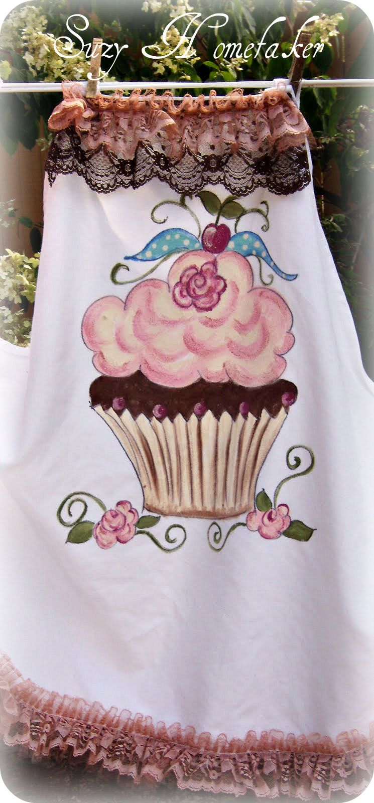 Suzy Homefaker New Hand Painted Aprons