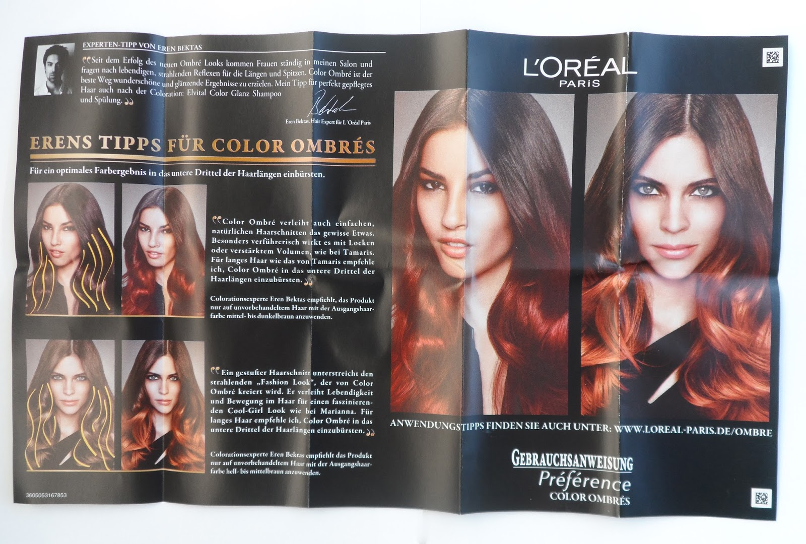 loreal color ombres preference dip dye look copper review another kind of beauty blog f. Black Bedroom Furniture Sets. Home Design Ideas