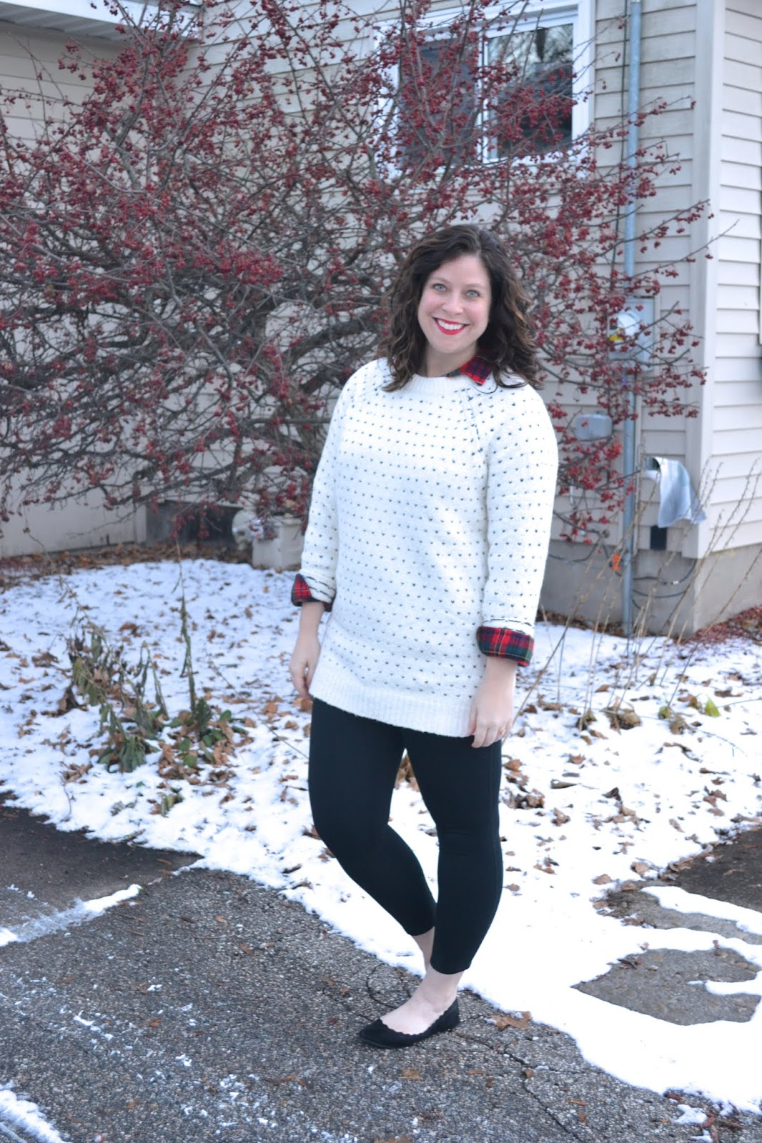 556947fe800d I did let myself splurge on a few holiday pieces during the cyber sales on  Black Friday. Two of my favorite things I purchased are this sweater and  plaid ...