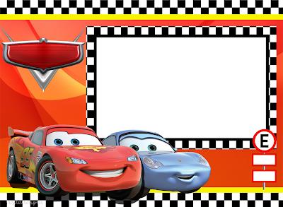 Para hacer invitaciones, tarjetas, marcos de fotos o etiquetas, para imprimir gratis de  Fiestas de Cars.