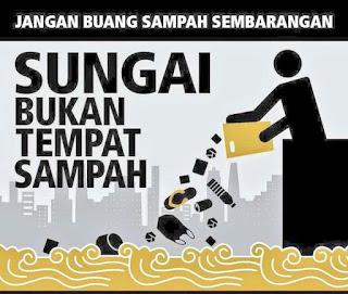 jangan membuang sampah disungai