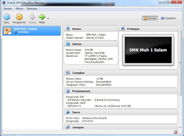 Cara Menginstall Linux di VirtualBox