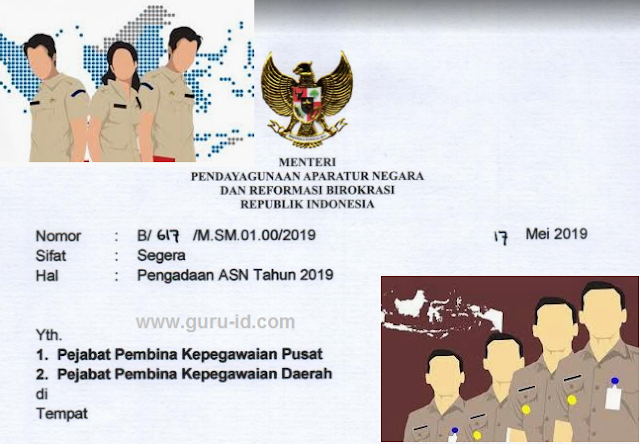 gambar surat edaran menpan tentang pengadaan ASN 2019
