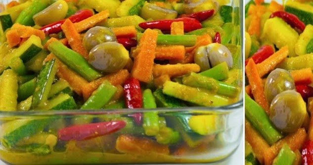Resep Acar Kuning Sayur Timun Wortel Buncis - County of Food