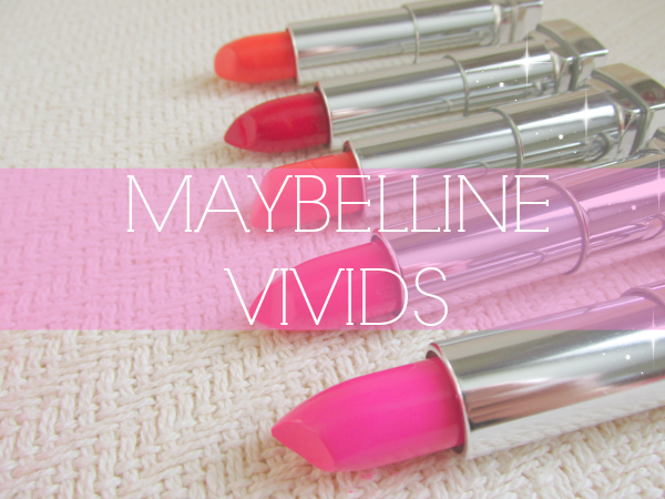 Maybelline Color Sensational Vivids - Reviews, Photos, Swatches - 865 Fuchsia Flash, 870 Shocking Coral,  875 Vivid Rose,  895 On Fire Red,  914 Vibrant Mandarine