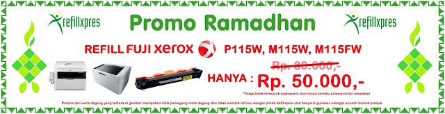 Refill Fujuxerox p115w hanya 50rb saja selama ramadhan