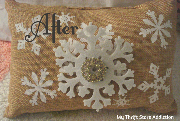 Upcycled holiday pillows
