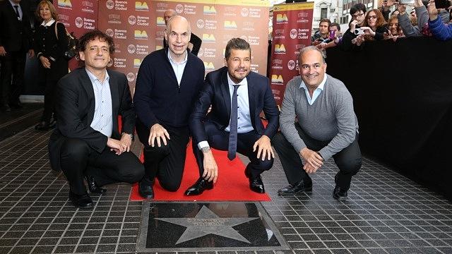 Marcelo Tinelli es distinguido con una Estrella en calle Corrientes