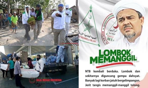 "Bukan Presiden, HRS Tetapkan Gempa Lombok ""Bencana Nasional"", Relawan FPI Se-Nusantara Dikerahkan"