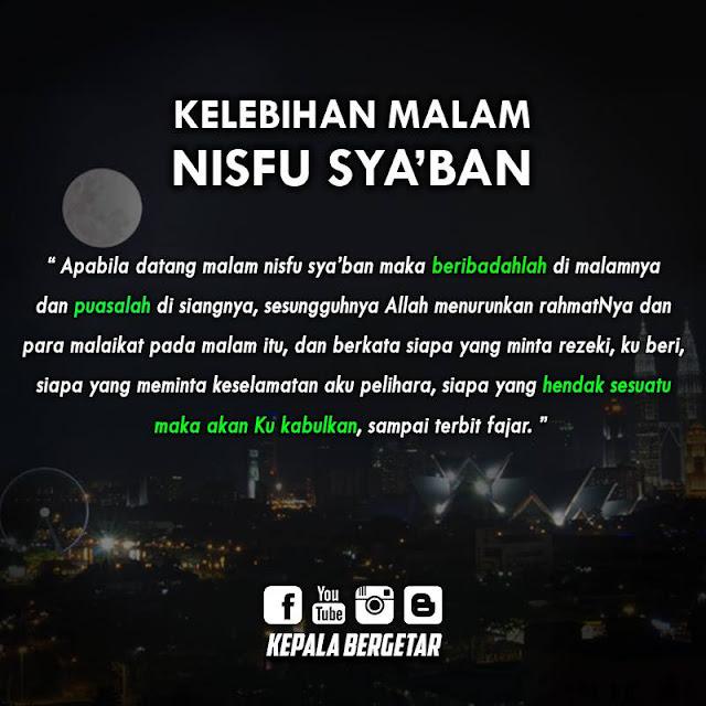 Kelebihan Malam Nisfu Sya'ban