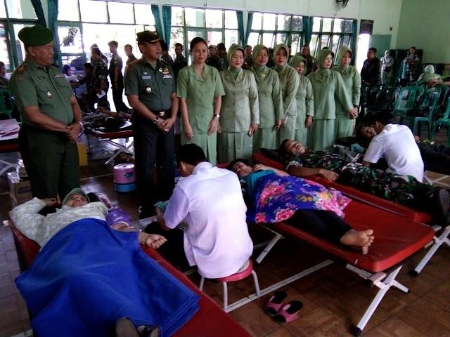 Kodim 0615/Kuningan Gelar Acara Donor Darah