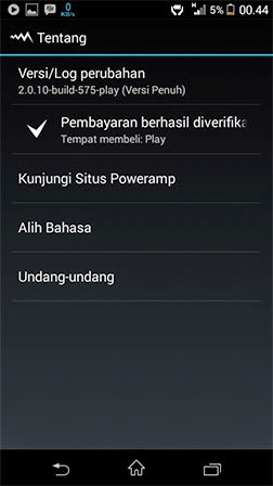 Poweramp v2.0.10 build 575 play