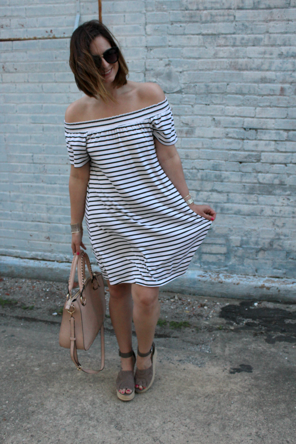 style on a budget, spring style, mom style, how to style a swing dress