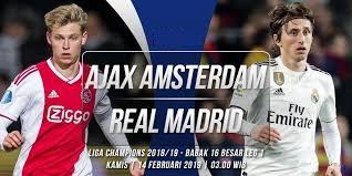 اون لاين مشاهدة مباراة ريال مدريد وأياكس أمستردام بث مباشر اليوم 13-2-2019 دوري ابطال اوروبا اليوم بدون تقطيع