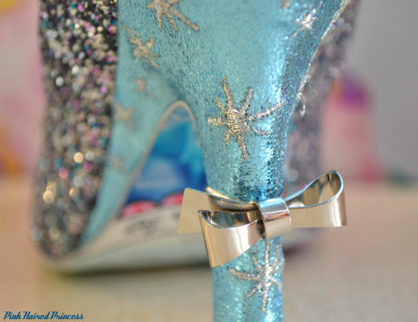 irregular choice sparkling slipper ring heel close up