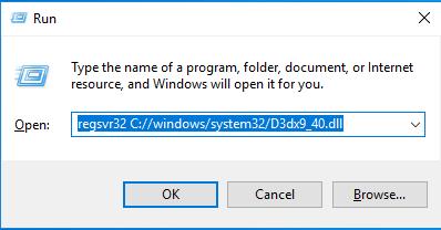 Télécharger D3dx9_40.dll Fichier Gratuit Installer