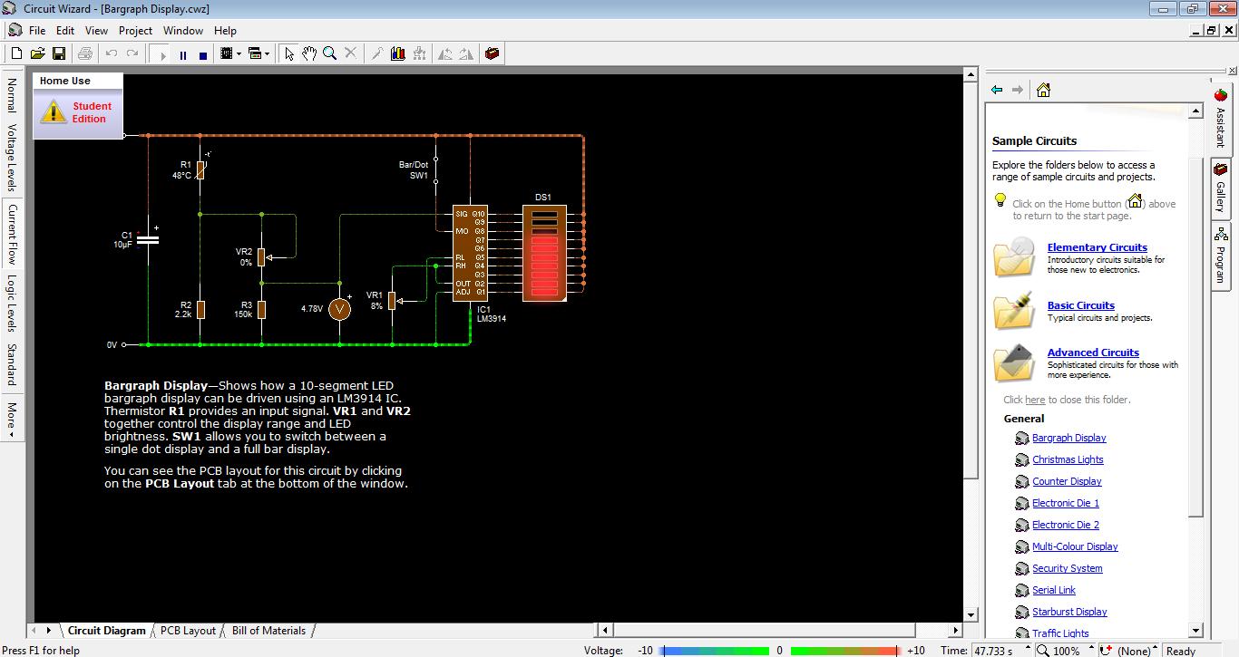 محاكاة الدوائر الالكترونية Circuit Wizard