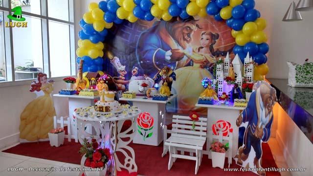 Decoração provençal de aniversário tema A Bela e a Fera