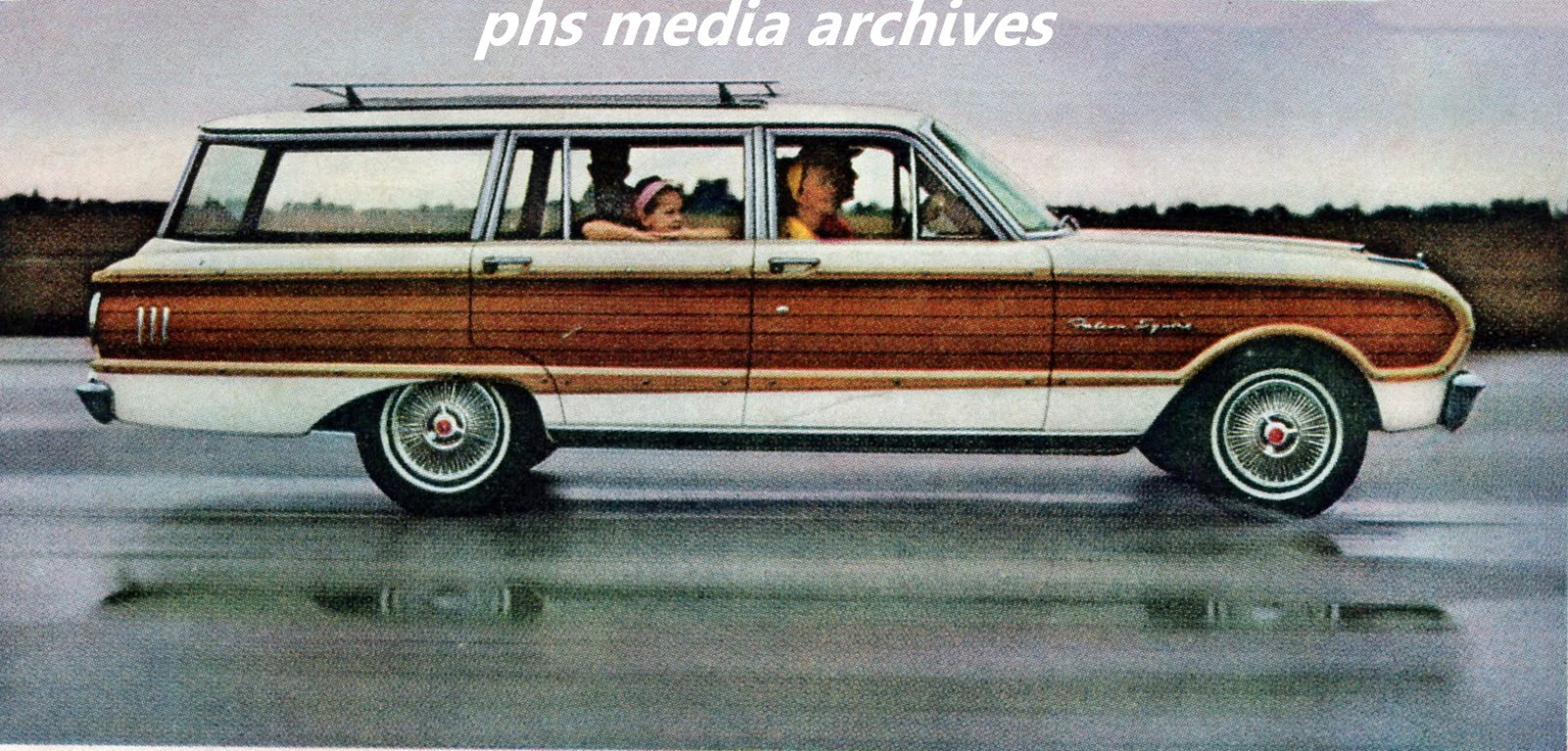 Ford Station Wagon Line Up 1963 Phscollectorcarworld 1960 Studebaker Lark Wiring Diagram Jazzy Little Falcon Country Squire Is Shown Here Tooling Along In The Rain