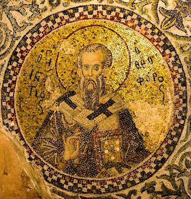 ancient, architecture, art, byzantine, cappadocian father, church, church father, editorial, finger, golden, heritage, historic, holy, ignatius of antioch, ignatius theophorus, istanbul, medieval, mosaic, pammakaristos, thumb, trump finger sign, turkey, https://www.shutterstock.com/image-photo/church-father-ignatius-antioch-making-trump-569610712