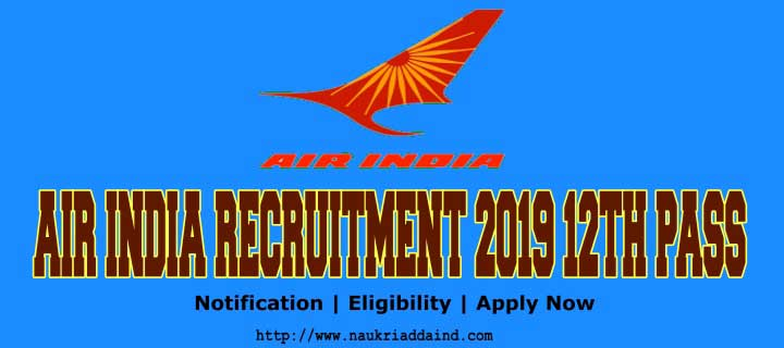 Air India recruitment 2019