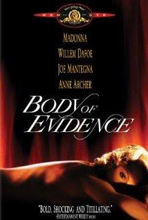 DVD cover Body of Evidence 1993 movieloversreviews.blogspot.com