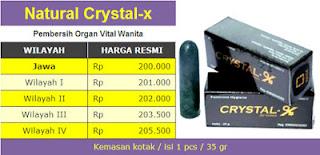 harga jual crystal x asli nasa