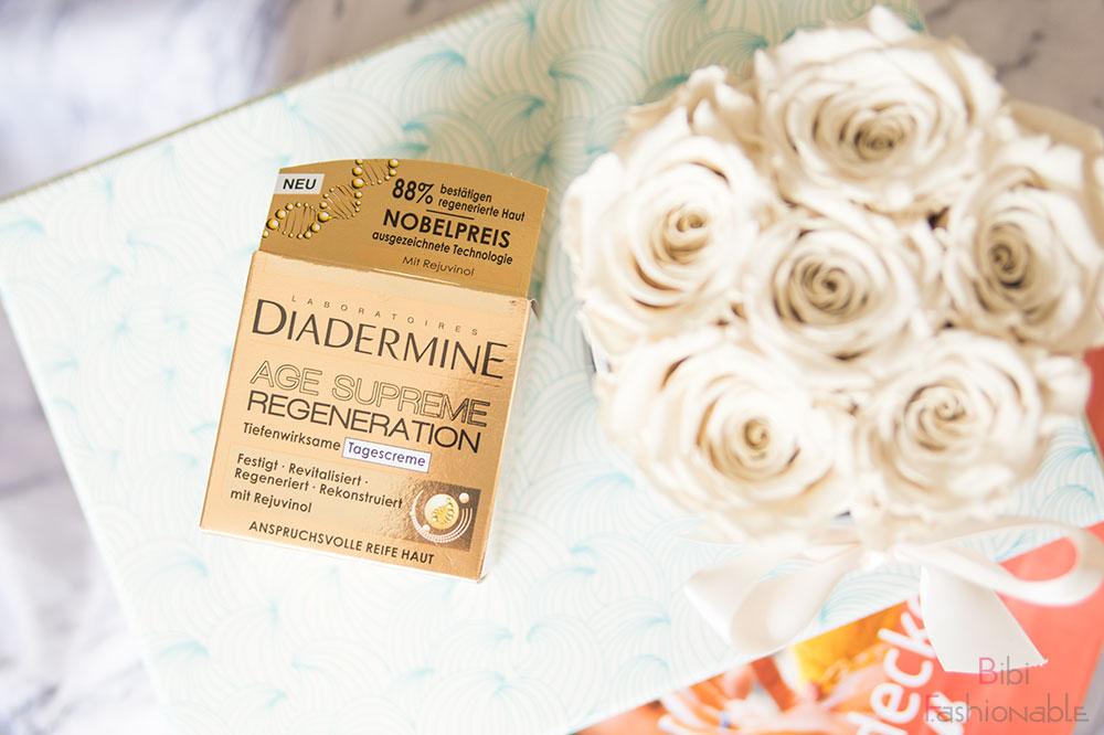 Unboxing dm Box alles was die Haut verwöhnt Diadermine Age Suprem Regeneration Tagescreme