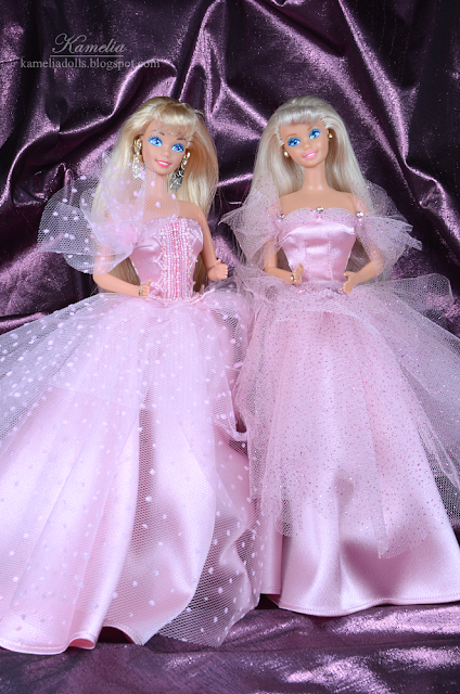 Pink ball gown for Barbie doll