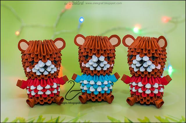 530. Misie z origami / 3d origami bears