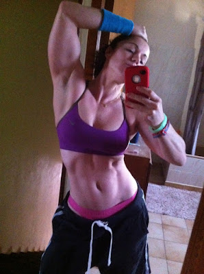 hot girl with abs