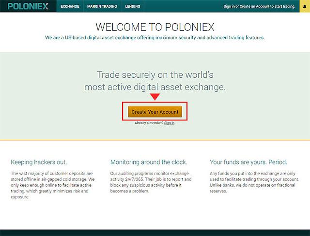 POLONIEXアカウント登録方法