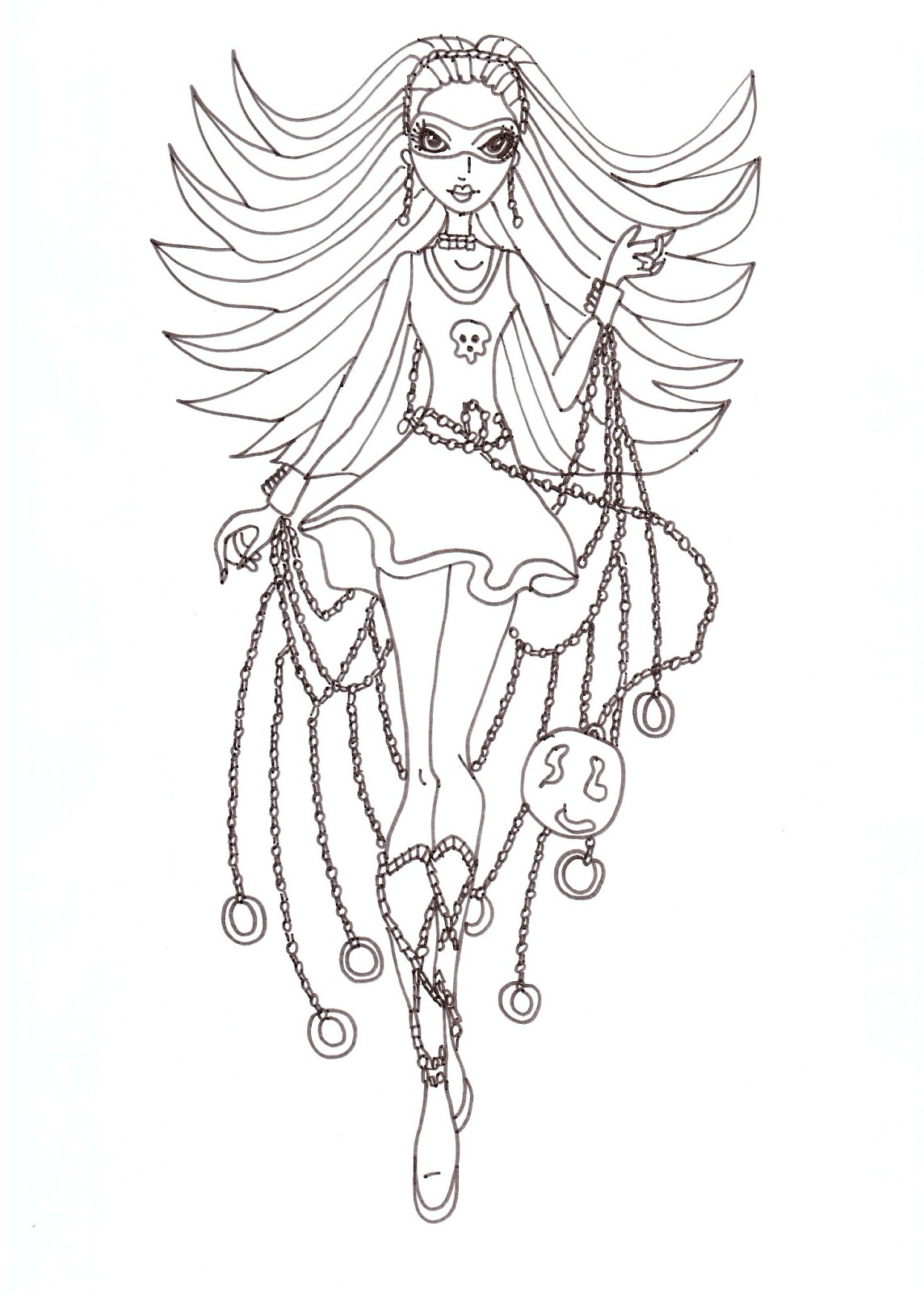 Free Printable Monster High Coloring Pages: Spectra Polter