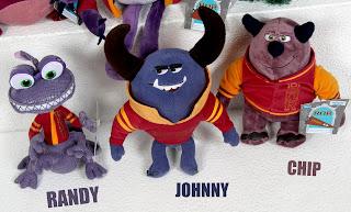 "Monsters University Disney Store ""ROR"" Mini Bean Bag Plush"